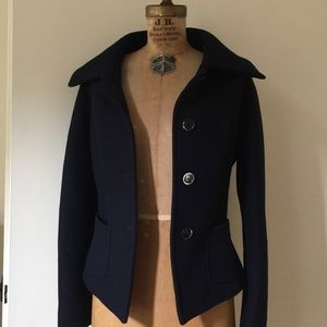 Max Mara blue Wool/Angora jacket/coat size L